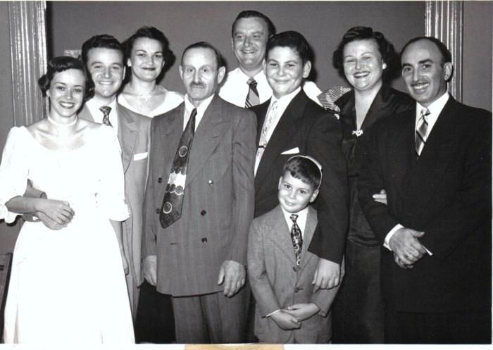 family at bar mitzvah