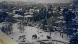 Jerusalem in snow January 2002